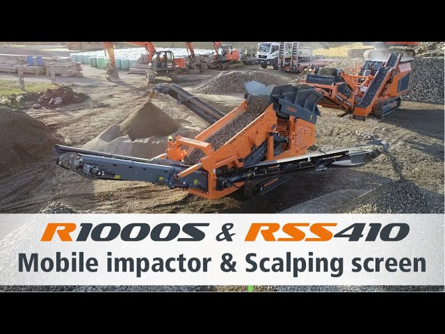 Mobile impact crusher R1000S & Scalping screen RSS410 / Prallbrecher R1000S & Grobsiebanlage RSS410