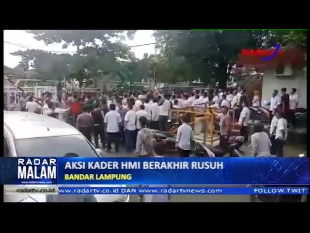 RUSUH, Aksi Demo Kader HMI di Balai Besar Wilayah Sungai Mesuji