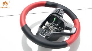 MEWANT-- for Honda Accord 10 Hand Stitch Car Steering Wheel Cover Installation