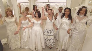 Women Try On Wedding Dresses to See if They Still Fit