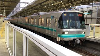 東京メトロ9000系9111編成新丸子駅発車