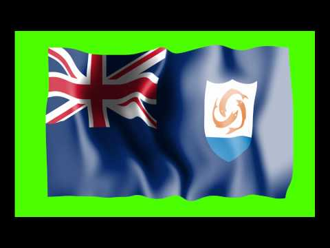 Anguilla Flag Green Screen - Free Royalty Footage