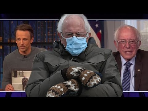 Bernie Sanders REACTS to His Viral Inauguration Mittens Memes