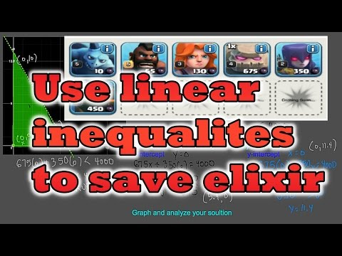 Clash of Clans Math - Using Linear Inequalities to Save Elixir