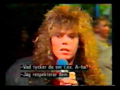 Joey Tempest interview in 1987