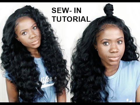 How to do sew in weave with no leave out for beginners youtube how to do sew in weave with no leave out for beginners pmusecretfo Images