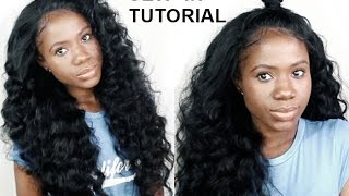 HOW TO Do Sew-In Weave With NO LEAVE OUT FOR BEGINNERS