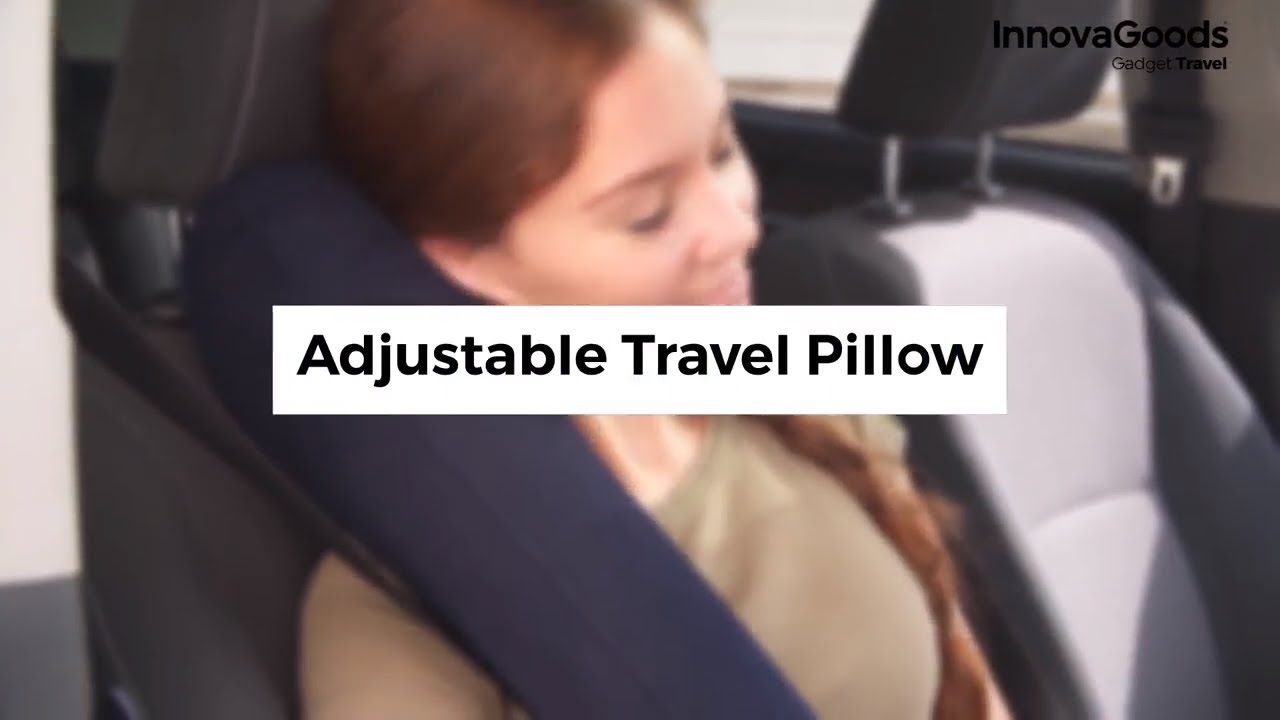 InnovaGoods Gadget Travel Adjustable Travel Pillow