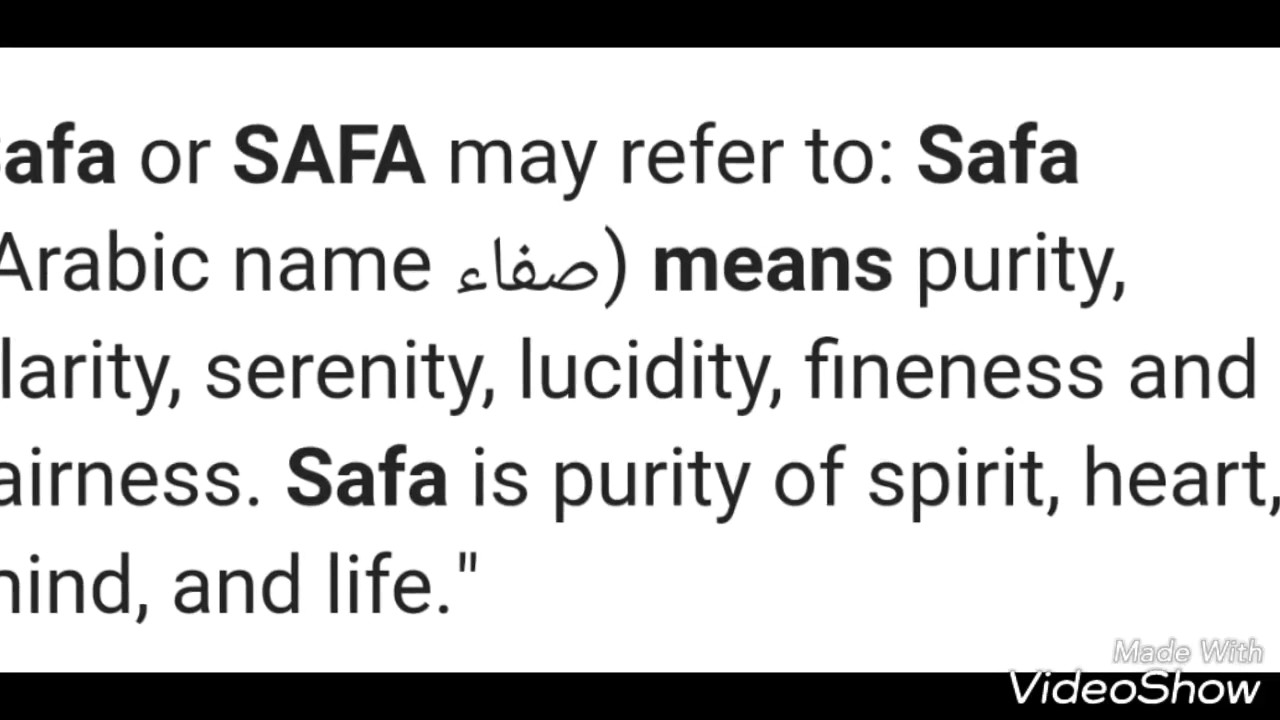 Safa Name