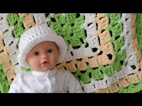Bernat Baby Blanket From The Middle Part 1 How To Crochet Youtube