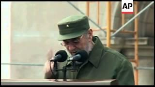 Fidel Castro gives longest speech of his public comeback