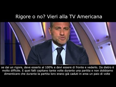 RIGORE O NO? VIERI alla TV AMERICANA, POST REAL-JUVE 1-3 (sub ITA)