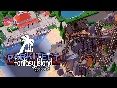 Fantasy Island – Parkitect –Waterfront and Minetrain Layout