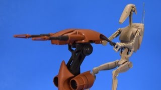 Bandai Star Wars Battle Droid and STAP 1:12 Scale Model Kit Build and Review