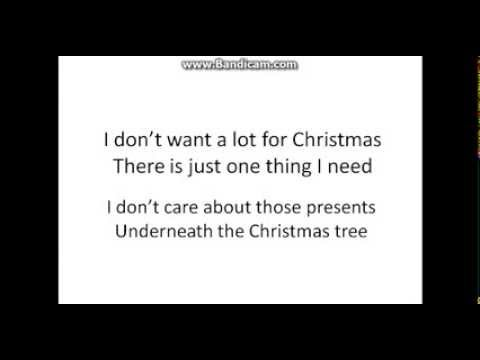 bh all i want for christmas is you lyrics - I Dont Want Alot For Christmas Lyrics