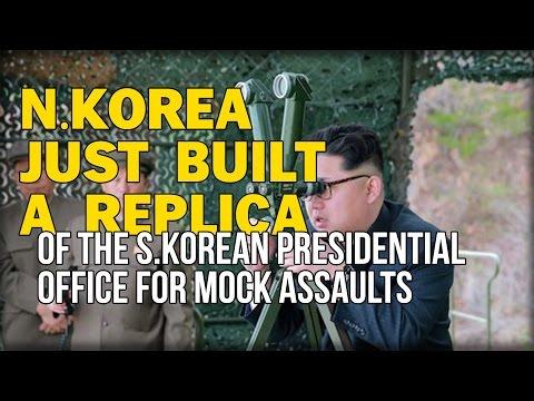 N.KOREA JUST BUILT A REPLICA OF THE S.KOREAN PRESIDENTIAL OFFICE FOR MOCK ASSAULTS