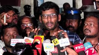 Who got arrested? Tamilrockers or Tamilgun? - Vishal answers at police station
