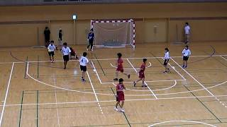西日本招待中学生ハンドボール 2017 女子 山鹿中vs粕屋中
