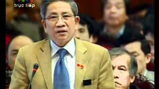 ĐB QH Nguyễn Minh Thuyết chất vấn Thủ tướng trong vụ Vinashin