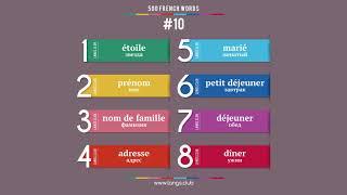 #10  - ФРАНЦУЗСКИЙ ЯЗЫК - 500 основных слов. Изучаем французский язык самостоятельно