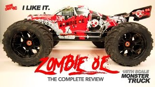 DHK ZOMBIE 8E - 1/8TH SCALE MONSTER TRUCK - Complete Review & BASH!