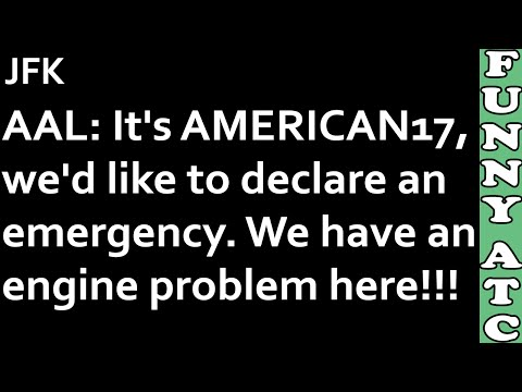 ATC: AMERICAN AIRLINES EMERGENCY - ENGINE PROBLEM ON TAKEOFF!