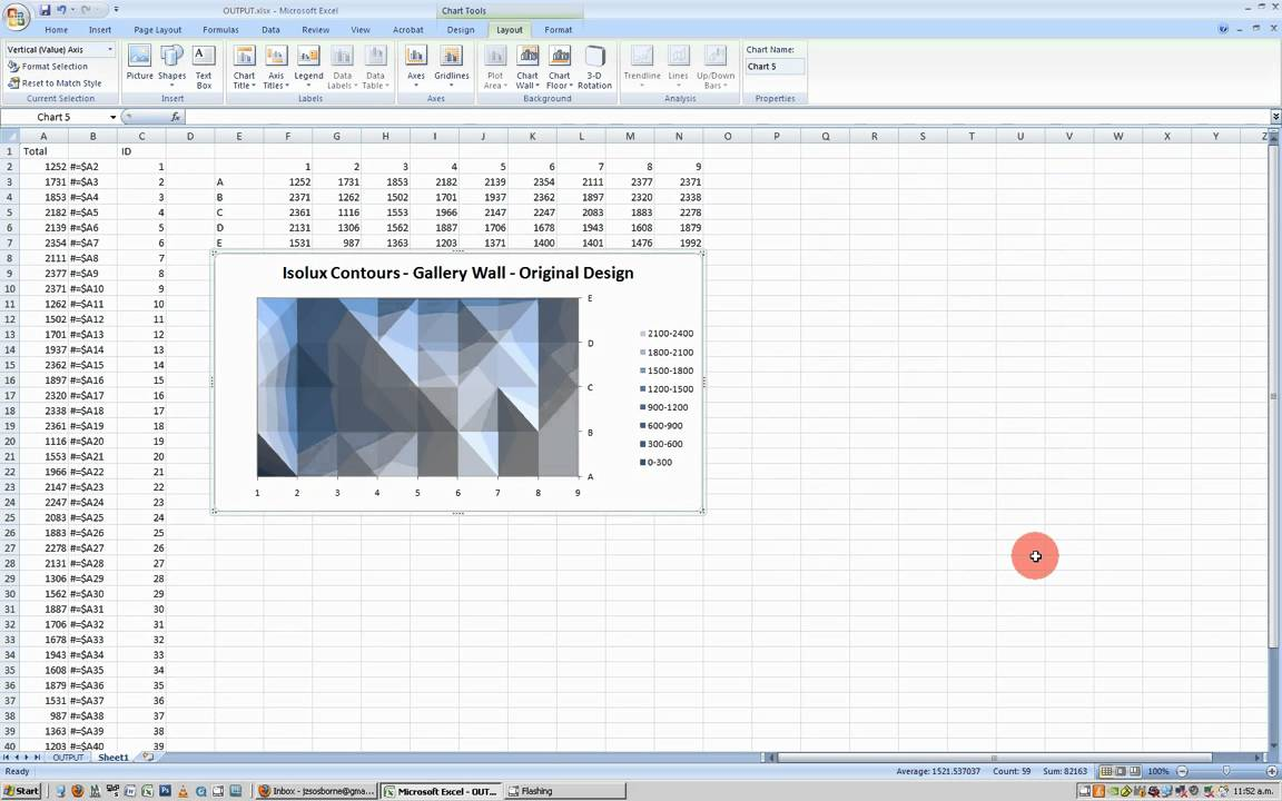Making Good Isolux Contour Charts in Excel