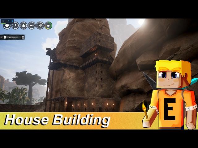 Conan Exiles - Building a Huge Mountain  House