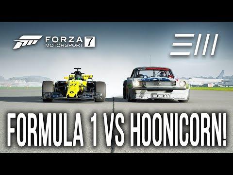 "Forza 7 - 2017 ""Formula 1"" F1 vs ""Hoonicorn"" MUSTANG V2 CHALLENGE!!!"