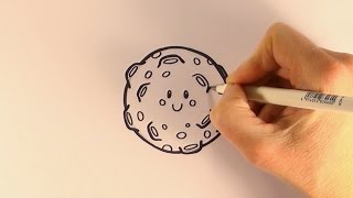 How to Draw a Cartoon Full Moon