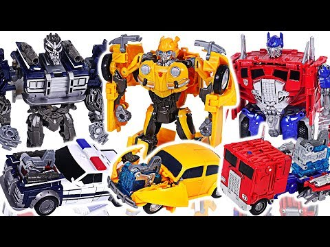 Transformers Movie Bumblebee Energon Igniters Nitro Series Optimus Prime VS Barricade! #DuDuPopTOY
