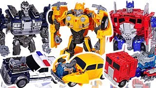 Transformers Movie Bumblebee Energon Igniters Nitro Series Optimus Prime VS Barricade! #DuDuPopTOY