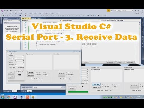 Visual Studio C# Serial Communication (Serial Port) tutorial 3.Receive Data (3/6)