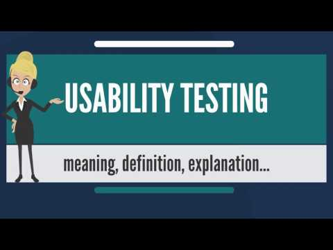 What is USABILITY TESTING? What does USABILITY TESTING mean? USABILITY TESTING meaning & explanation