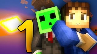 "Minecraft Sky Grind #1: ""CREEPER SURPRISE?!"" Sky Block Let's Play w/ Woofless and Pete"