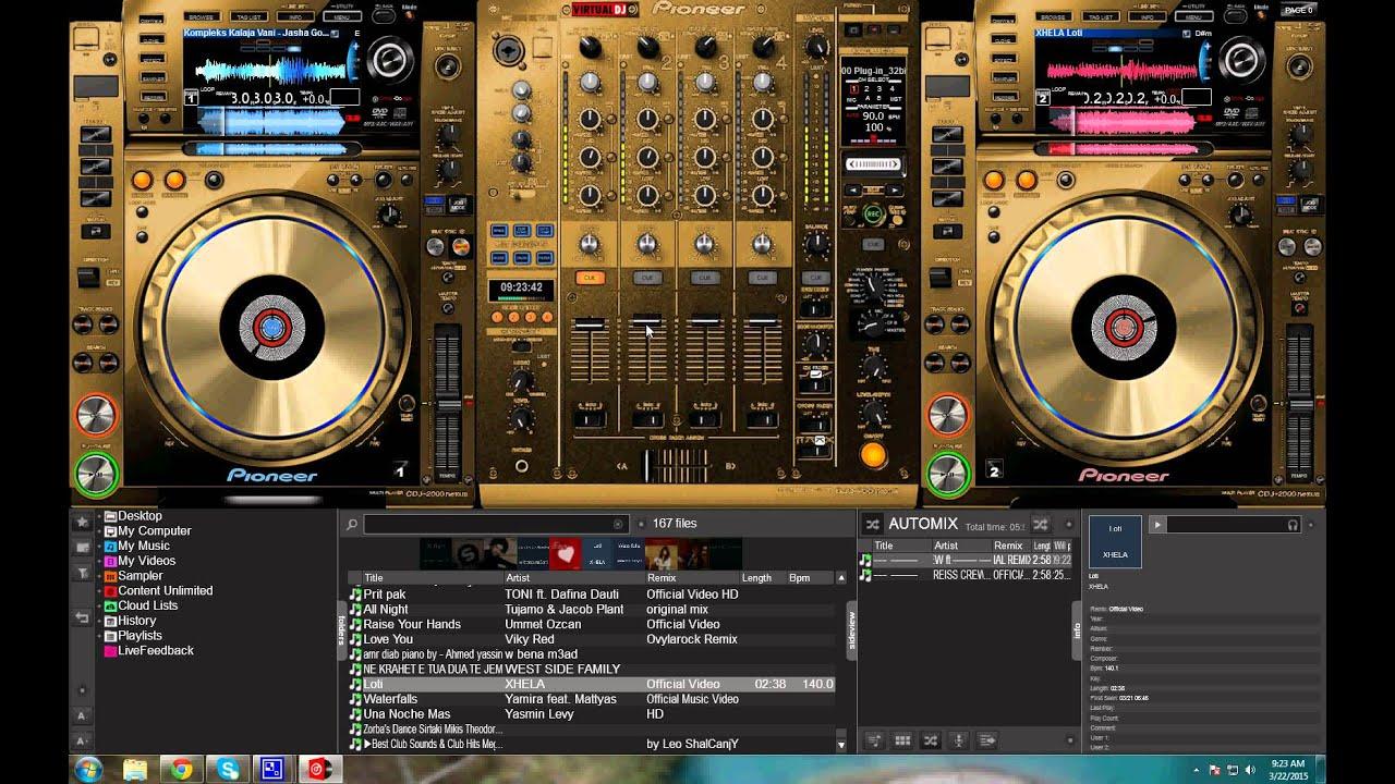 skin virtual dj 7 cdj 2000