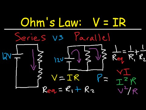 Series and Parallel Circuits Explained - Voltage Current Resistance
