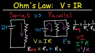 Electric Current & Circuits Explained, Ohm\'s Law, Charge, Power ...