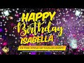 Happy Birthday to Isabella In the Style of Taylor Swift   Celebrity   Personalised   Party