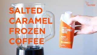 Keto Salted Caramel Frozen Coffee Recipe