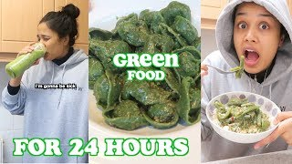 i only ate green food for 24 hours   clickfortaz