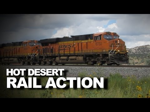 Super fast trains on the old Santa Fe in Arizona and New Mexico!
