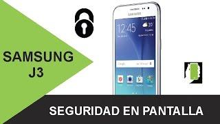 SAMSUNG GALAXY  J3 Activa Seguridad En Pantalla / Pin / Patron / Contraseña HD