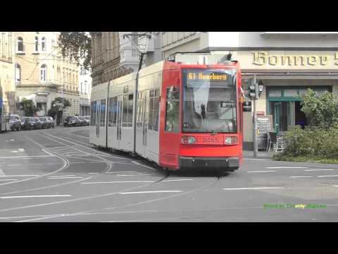 Trams in Bonn, Germany - Straßenbahnen in Bonn Deutschland