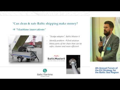 EUSBSR 4th Annual Forum - Can Clean & Safe Baltic Shipping Make Money? - Part 4 - Linus Karlsson