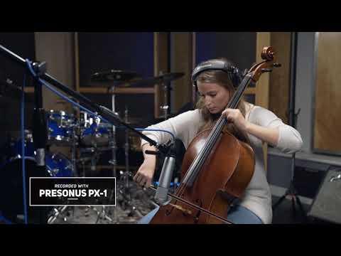 PreSonus PX-1 microphone: Foto Sisters' Gaylyn Foto on Cello 2