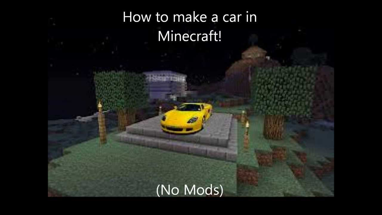 How To Make A Car In Minecraft Easy! (No Mods)