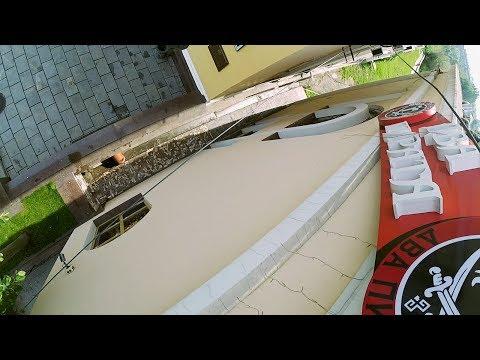 Монтаж крышной вывески из фасадной наружной рекламы