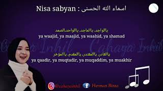 Lirik Asmaul Husna (nissa sabyan)