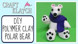 Polymer Clay Polar Bear Ornament Diy  Craft Klatch Christmas Series